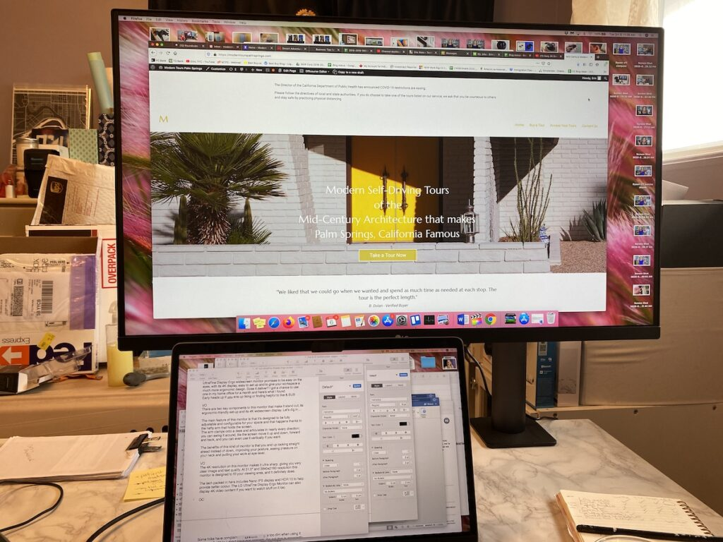 lg, ultrafine, ergo, 4k, widescreen monitor, review